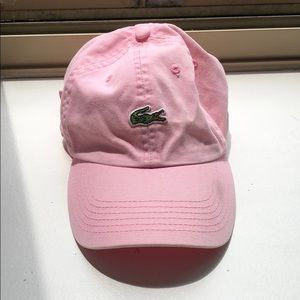 Lacoste pink cap